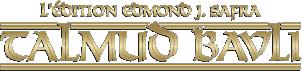 L'Edition Edmond J. Safra du Talmud Bavli – Le Talmud en français Logo